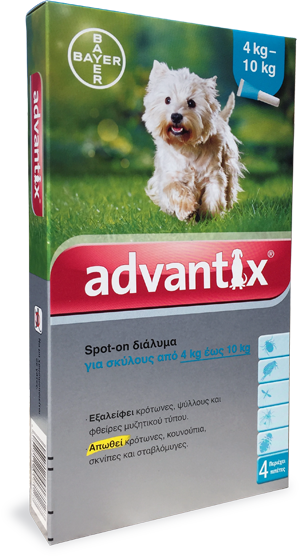 ADVANTIX spot-on dog  4-10 kg