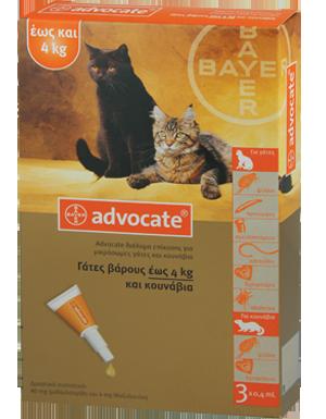 ADVOCATE  spot-on για  μικρόσωμες γάτες και κουνάβια