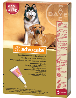 ADVOCATE spot-on for  large dogs >10-25kg
