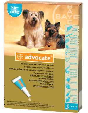 ADVOCATE spot-on for   medium dogs >4-10kg