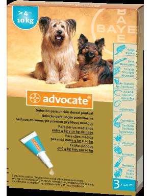 ADVOCATE spot-on για  μεσαίου μεγέθους σκύλους >4-10kg