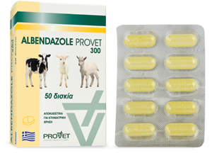 ALBENDAZOLE/ PROVET tabs 300 mg
