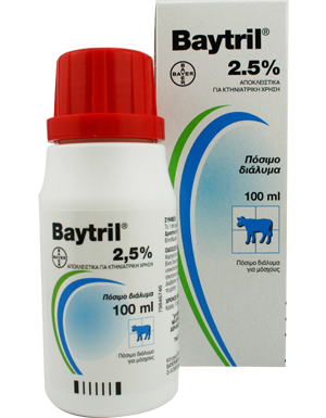 BAYTRIL  2.5% oral sol.