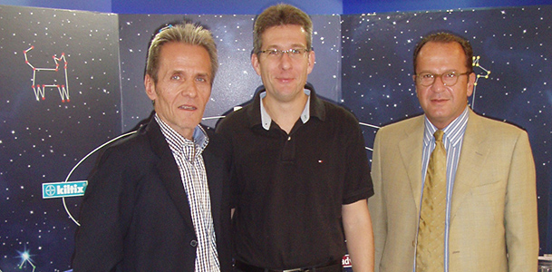 From left to right: Gregory Bitzas, Dr Marc Stoeber (BAYER), Sophocles Rovis (PROVET).
