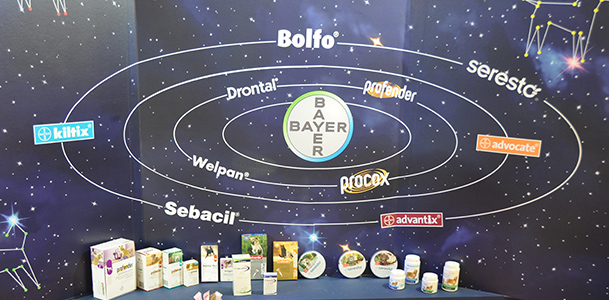 The galaxy of PROVET products includes the whole range of BAYER Animal Health.